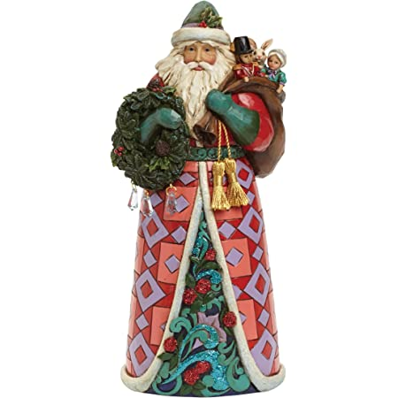 Jim Shore Winter Wonderland Santa Holding Holly Hanging Ornament  6001424  NIB