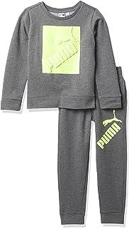 PUMA Pullover Crew & Jogger Jersey Niños