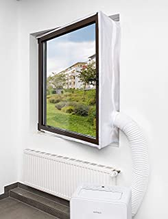 KLARBACH Fensterabdichtung Has_01   Optimal für Mobile Klimaanlagen und Abluft-Trockner   4 Meter Länge   Weiß