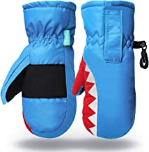 Kid and Baby Easy on Wrap Mittens Winter Warm Sport Ski Gloves for 3-7 Years Old