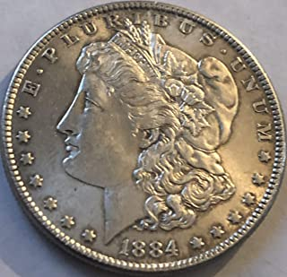 1884 P Silver Morgan Dollar AU Almost Uncirculated Condition