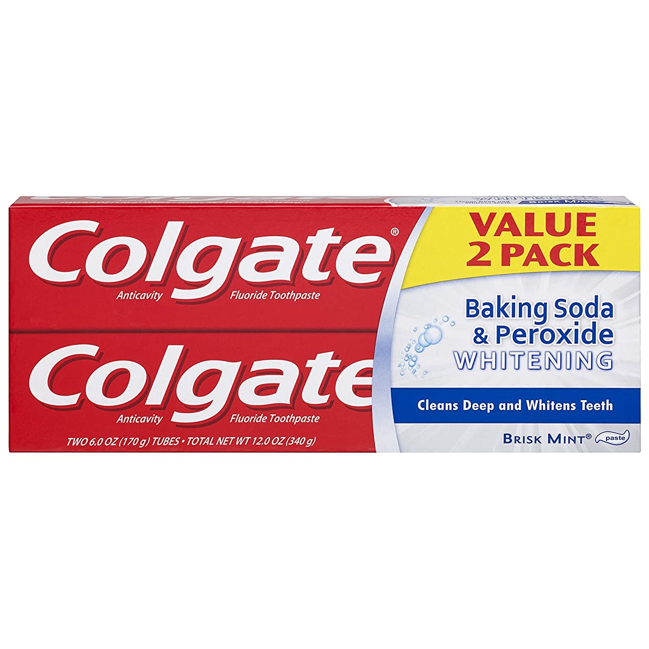 侵略支配的デイジーColgate 重曹と過酸化物ホワイトニング歯磨き - 6オンス(2カウント)
