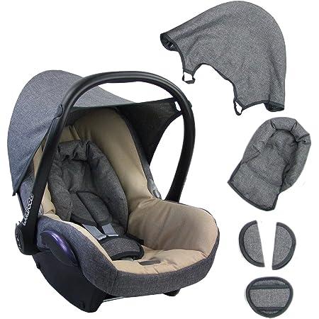 Bambiniwelt Ersatzbezug Für Maxi Cosi Cabriofix 6 Tlg Grau Beige Bezug Für Babyschale Komplett Set Xx Baby