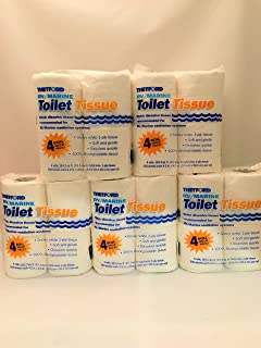 RV/Marine Toilet Tissue - Toilet Paper for RV and Marine - 1-ply - 4 Rolls - Thetford 20804 - 5 Packs Totaling 20 Rolls