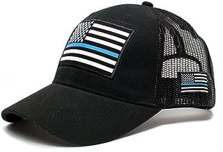 Posse Comitatus Thin Blue Line USA Flag Unisex Adult One-Size Cap Hat Black