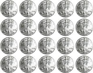2004 Silver Eagle Set of 20 Brilliant Uncirculated