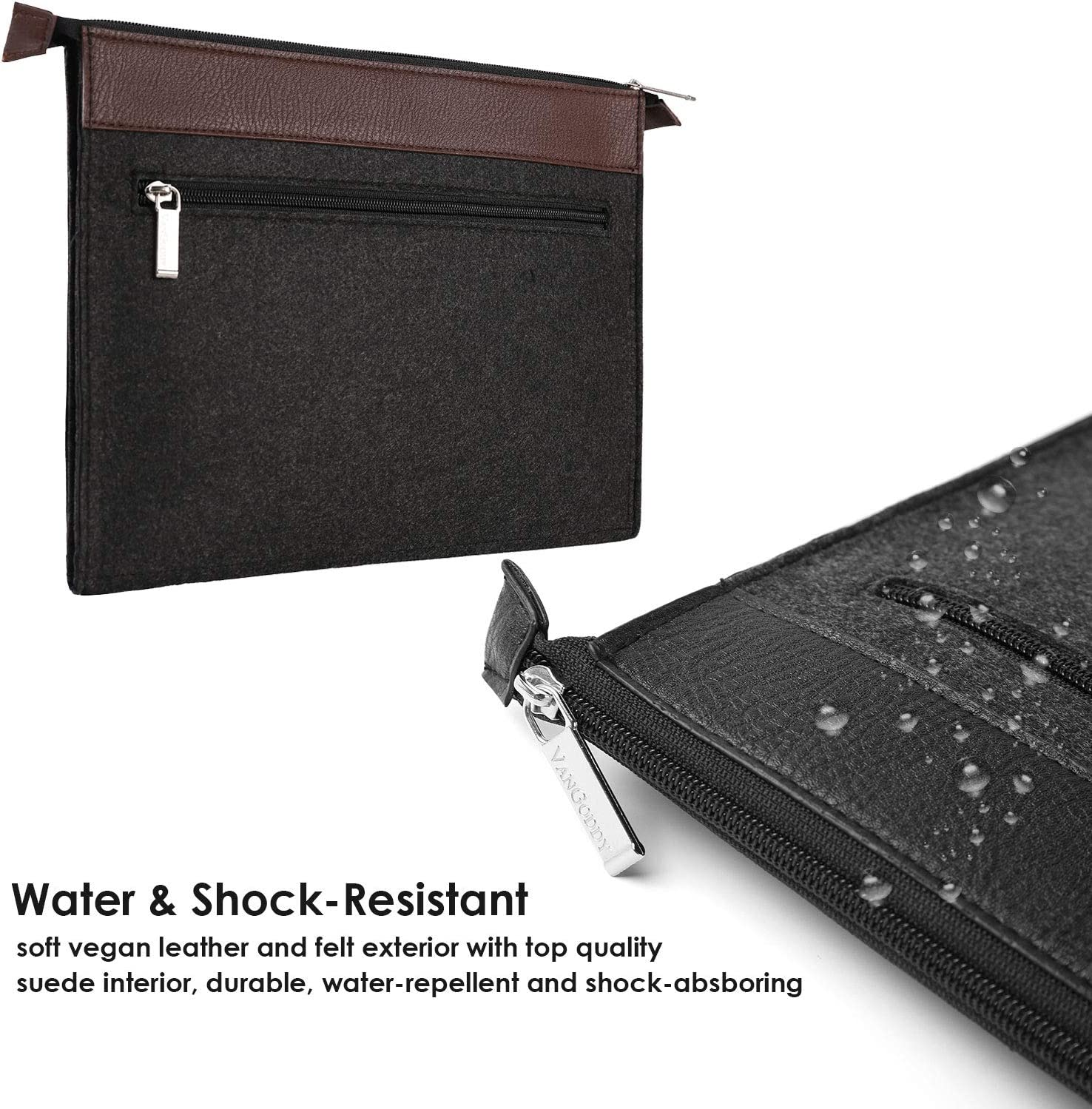 Water Resistant Notebook Bag Case with Accessory Pocket Protective Leather Felt Laptop Sleeve for New Surface Book 3 13.5 Inch Surface Laptop 3 2
