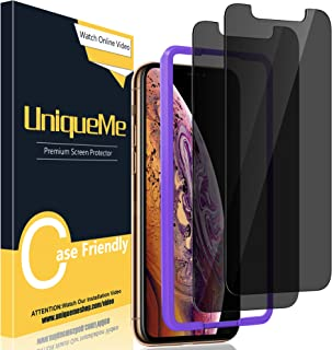 [2 Pack] UniqueMe Compatible for iPhone 11 Pro Max/XS Max 6.5 inch Anti Spy Privacy Screen Protector, [Easy Installation F...