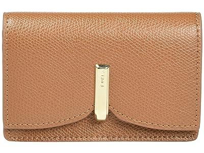 Furla Ribbon Small Bus Coin Card Case (Cognac) Handbags