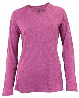 adidas Damen Response 3 Stripe ClimaLite T Shirt Lila
