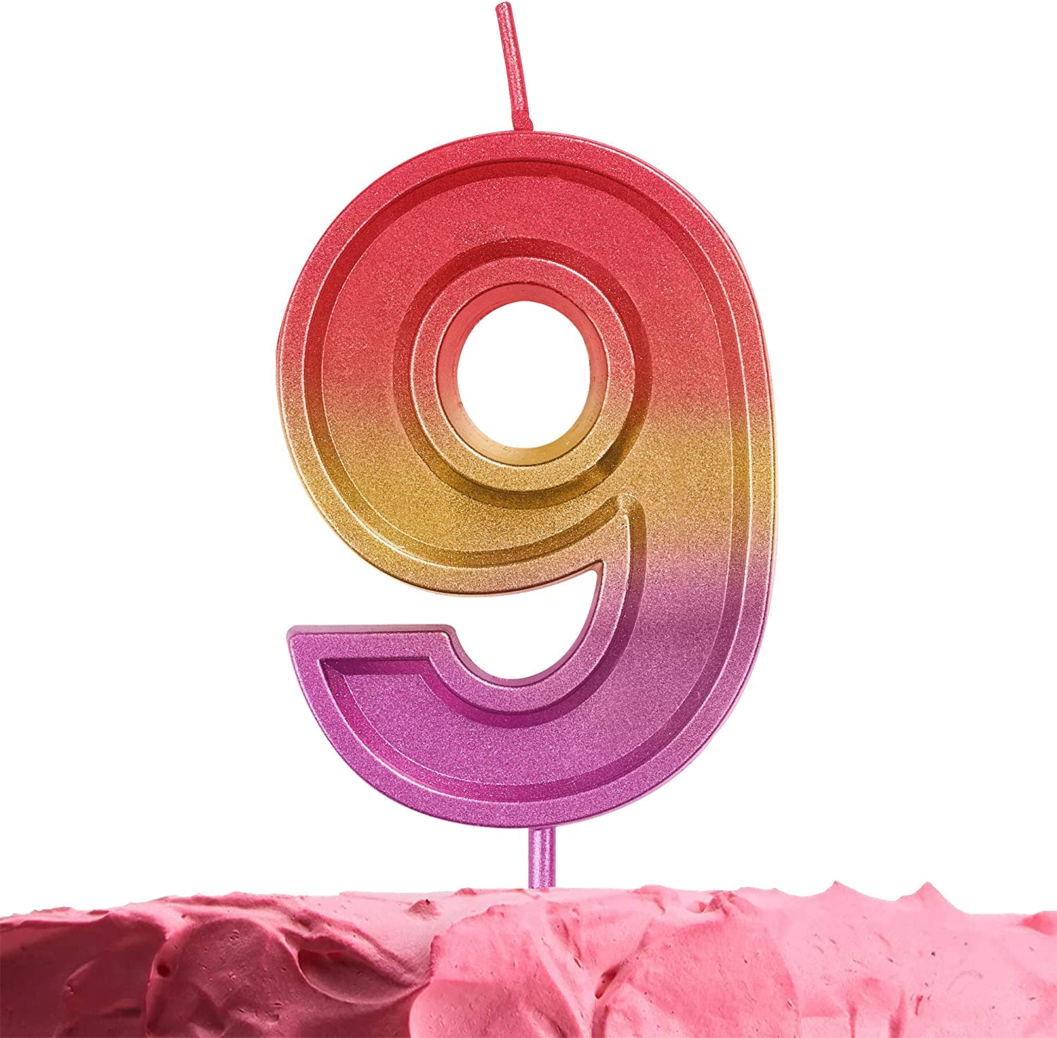 10th Birthday Candle for Cake Decoration GET FRESH Number 10 Birthday Candle Rainbow Number 10 Candle on Sticks Multicolor Ten Cake Candle Number Ten Candles for Birthday Anniversary