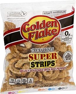 Golden Flake Super Cracklin Strip w/Red Pepper Seasoning 3 oz (Pack of 4)