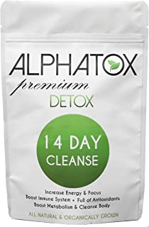 Alphatox 14 Day Premium Detox Tea Cycle   Helps Lose Weight Naturally, Full of Anti-oxidants   14 Herbal Tea Bags   Organic Tea