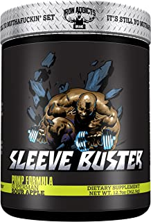 Sleeve Buster | Iron Addicts | Pre-Workout Pump Formula | Formulated By CT Fletcher (30 Servings, Sour Apple)