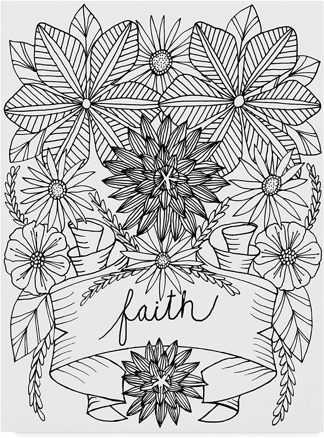 Trademark Fine Art ALI42030C1419GG Faith Line Art by Laura Miller, 14x19