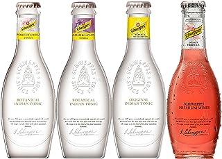Schweppes Premium Mixers Set - Tonic Water  Orange Blossom Lavendel Tonic  Pink Pepper Tonic  Hibiscus Tonic - je 200ml inkl. Pfand MEHRWEG