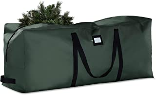 Premium Christmas Tree Storage Bag - Fits Up to 7.5 ft Tall Artificial Disassembled Trees, Durable Handles & Sleek Dual Zipper - Holiday Xmas Bag Made of Tear Proof 600D Oxford - 5 Year Warranty,