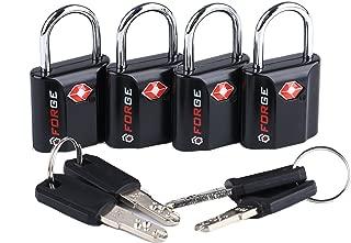 Black 4 Pack TSA Approved Travel Luggage Locks