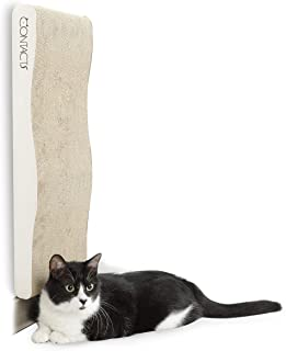 CONTACTS Cat Scratcher Cardboard Wall Mounted, Mordern Cat Scratching Post (22.8x9.8x2.1 in)