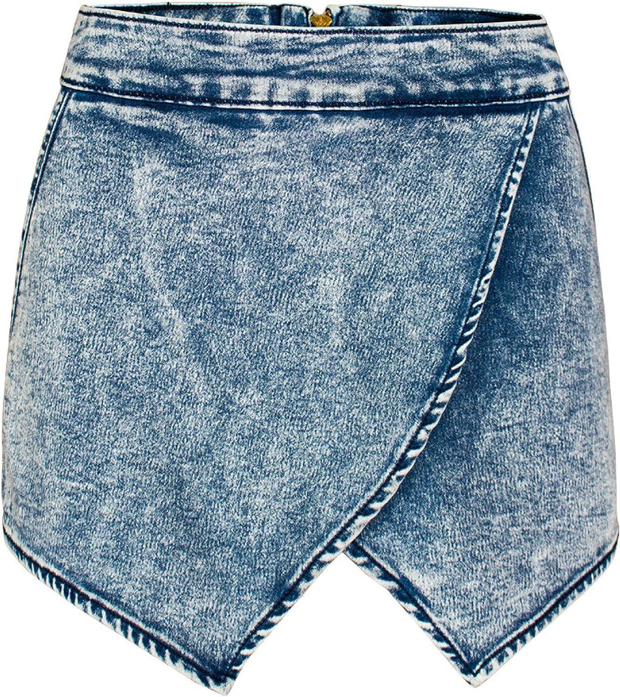 Women's Cross Irregular Denim Shorts Fashion Washed Simple Casual All-Match