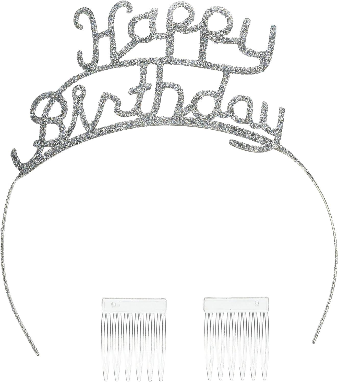 Beistle 60630 Glittered Happy Birthday Tiara  Pack of 6