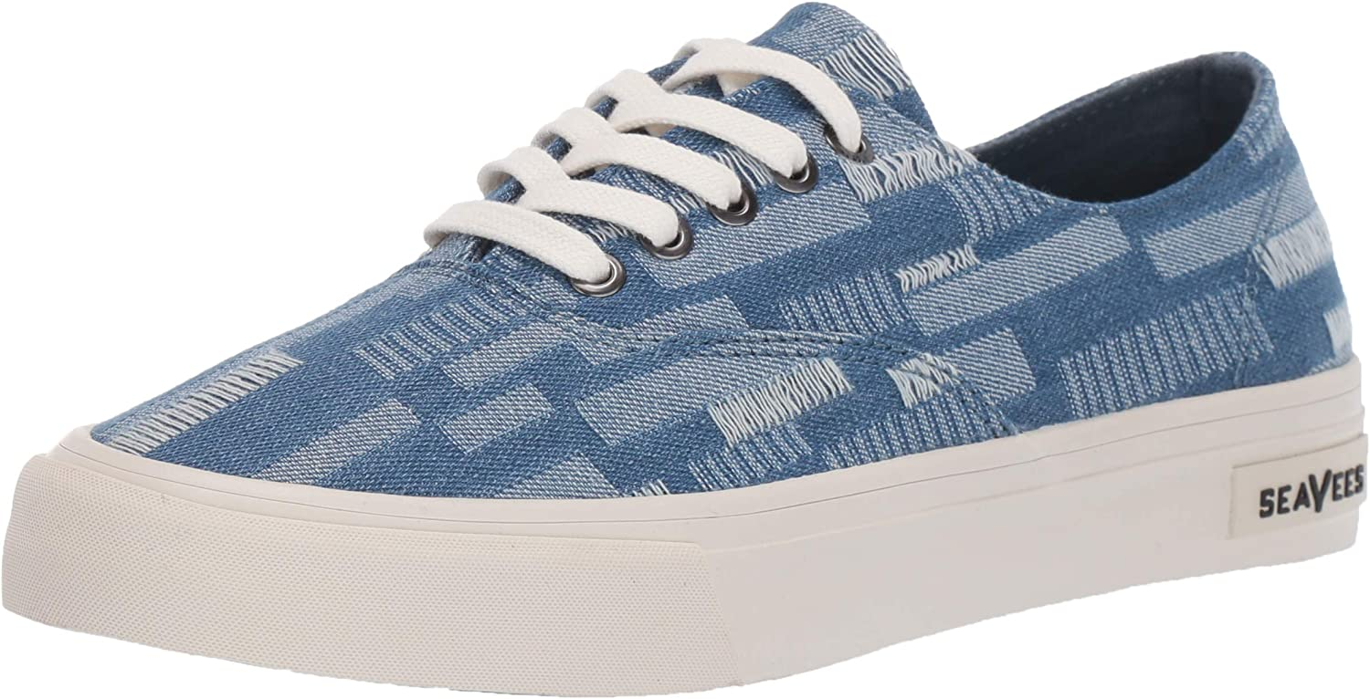 SeaVees Women's Legend Sneaker Embroidery, Stitched Denim, 10 M US