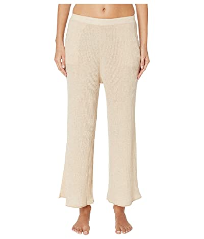 Skin Melinda Wool and Cashmere Blend Crop Pants (Toasted Almond) Women