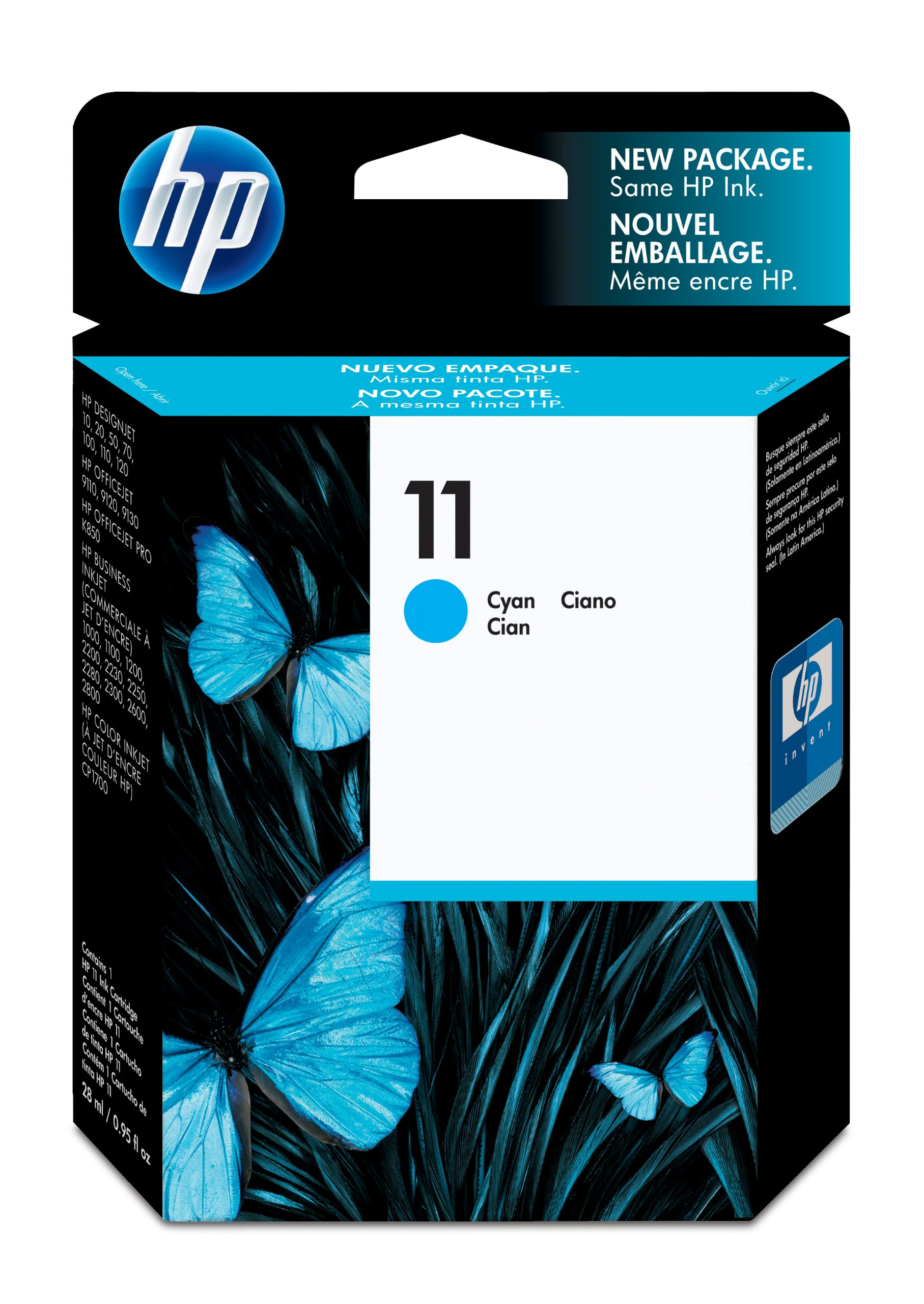 Ink cartridge Original HP 1x Cyan C4836A / Nr 11 for HP DesignJet ...