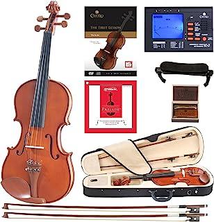 ویولن Cecilio CVN-200 Solidwood Violin with D'Addario رشته های مقدماتی ، اندازه 4/4 (اندازه کامل)