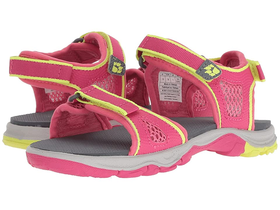 Jack Wolfskin Kids Acora Beach Sandal (Toddler/Little Kid/Big Kid) (Tropic Pink) Girls Shoes