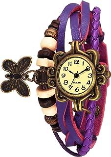 Saving Store Analogue Yellow Dial Girl's & Women's Watch Dori Purple