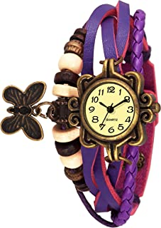 RAJ EMPIRE Best Analogue Quartz Movement Bracelet Type Purple Color Dori Watch for Girls and Women