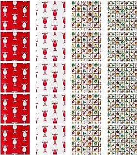 ARTIBETTER 20 Peças de Tecido de Algodão de Natal Com Quadrados de Tecido Floral Costurando Patchwork para Costura Artesan...