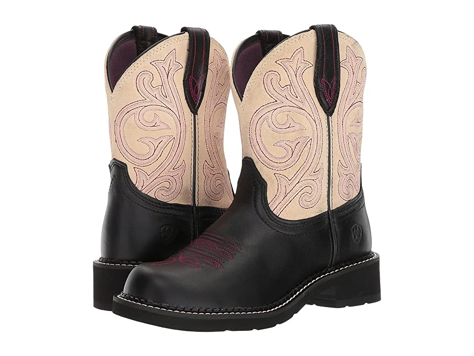 Ariat Fatbaby Heritage (Black Carbon/Cream) Cowboy Boots