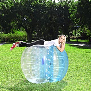 person in bubble ball