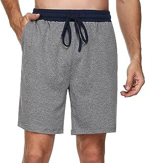 Doaraha Mens Pyjama Bottoms Cotton Shorts with Elasticated Waist Soft Comfortable Lounge Shorts Mens Pyjamas Nightwear Lou...