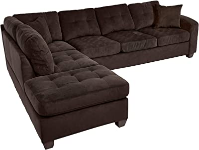 Amazon.com: Rivet Revolve Modern Reversible Chaise Sectional ...