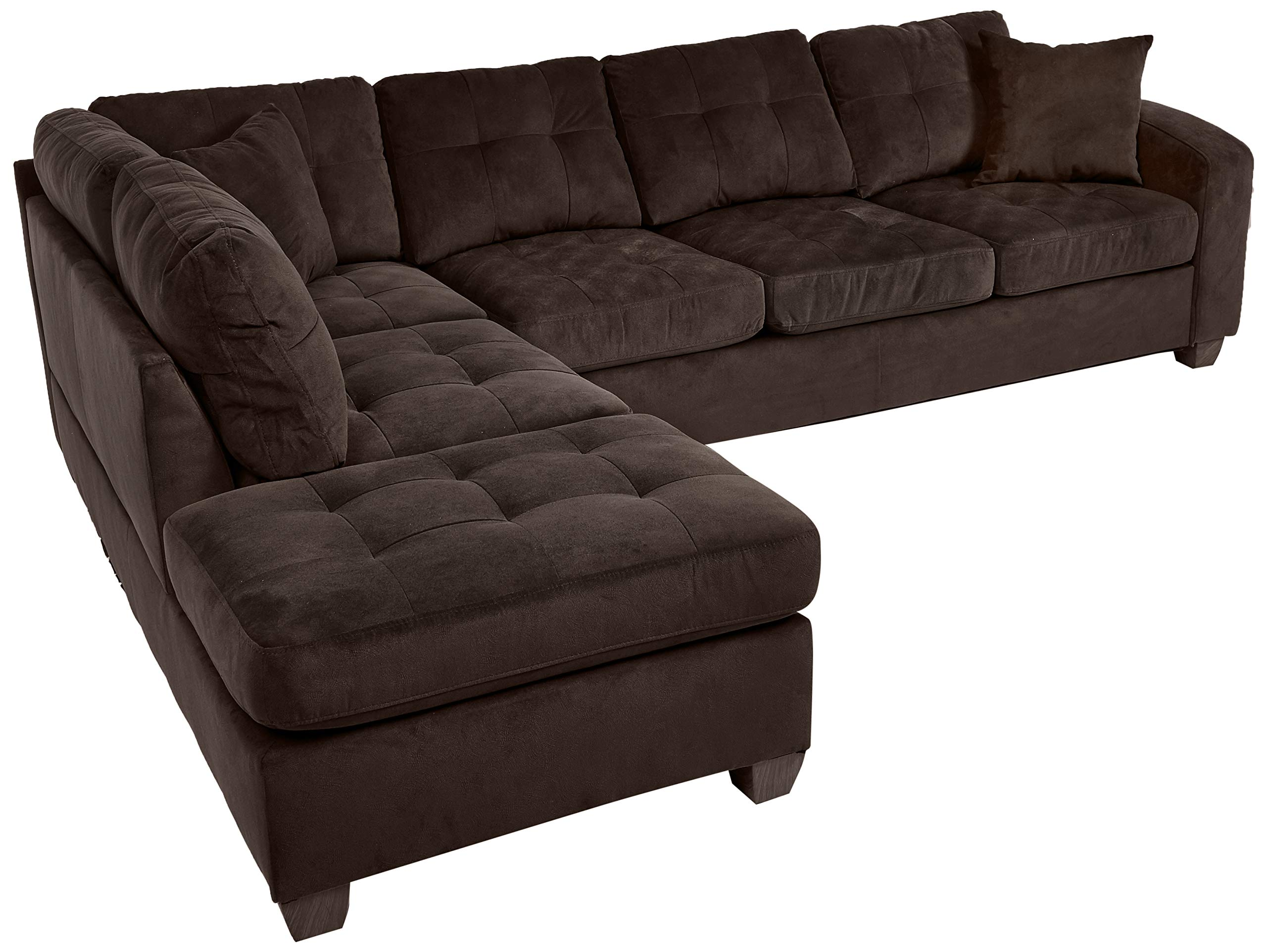 chocolate brown sectional couches amazon com rh amazon com sierra chocolate brown microfiber sectional sofa chocolate leather sectional sofa