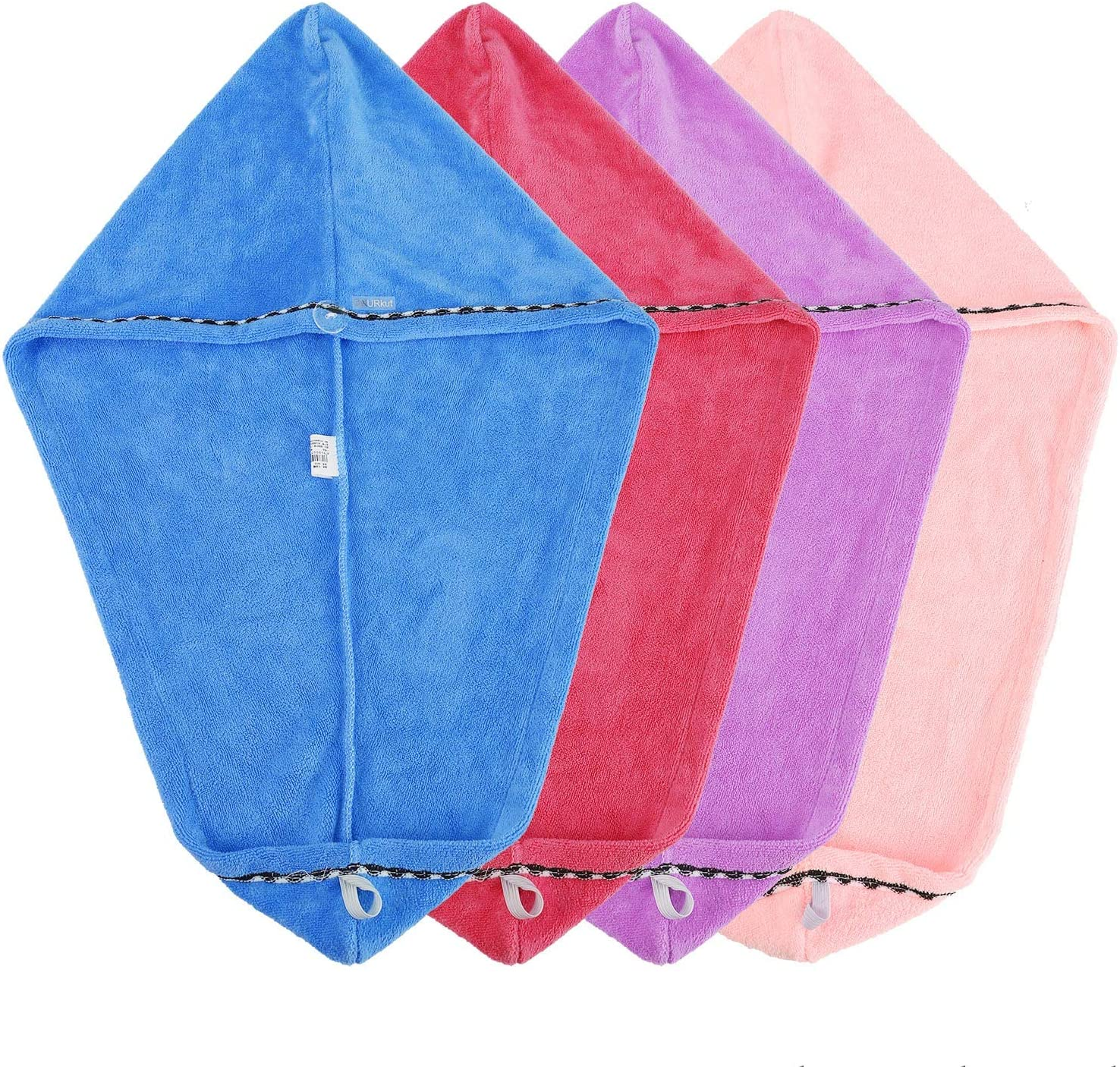 4 Pack Hair Drying Towels Head Wrap Women for Dry Ab New York Mall Super Fast Ranking TOP11