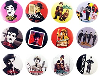 Charlie Chaplin Awesome Quality Lot 12 New Pins Pinback Button Badge 1.25 Inch