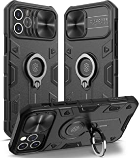 Nillkin Compatible with Case iPhone 12 Pro Max 6.7 inch - Military Grade Case with 360° Kickstand Ring Stand and Slide Cam...