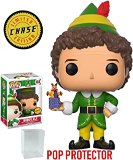 Funko Pop! Holidays: Elf the Movie - Buddy the Elf CHASE Variant Limited Edition Vinyl Figure (Bundled with Pop Box Protector Case)