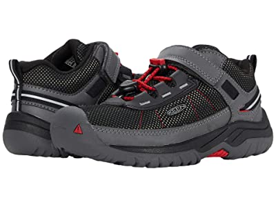 KEEN Kids Targhee Sport (Toddler/Little Kid) (Steel Grey/Red Carpet) Boy