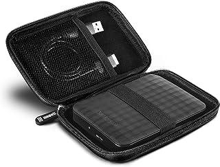 Duronic HDC2 Nero Custodia Hard Disk esterno - Custodia in alluminio portatile per hard disk esterno e cavi - Leggero e pr...