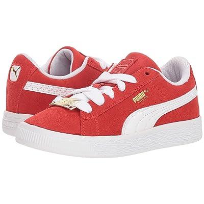 Puma Kids Suede Classic BBOY Fabulous (Little Kid) (Flame Scarlet/PUMA White) Boys Shoes