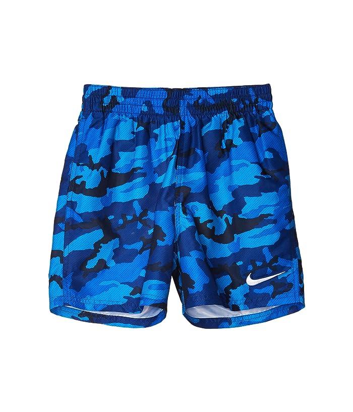 Nike Kids  4 Camo Volley Shorts (Little Kids/Big Kids) (Obsidian) Boys Swimwear