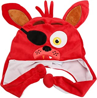 Granny's Best Deals (C) Five Nights at Freddy's Plush Red Foxy Hat for Kids-Brand New!