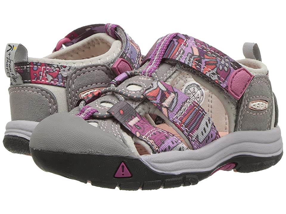 Keen Kids Newport H2 (Toddler) (Grape Kiss Print) Girls Shoes