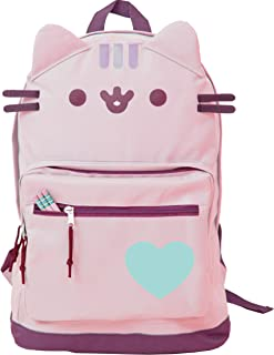 Pusheen Cat Face Backpack Standard (Pink Standard)