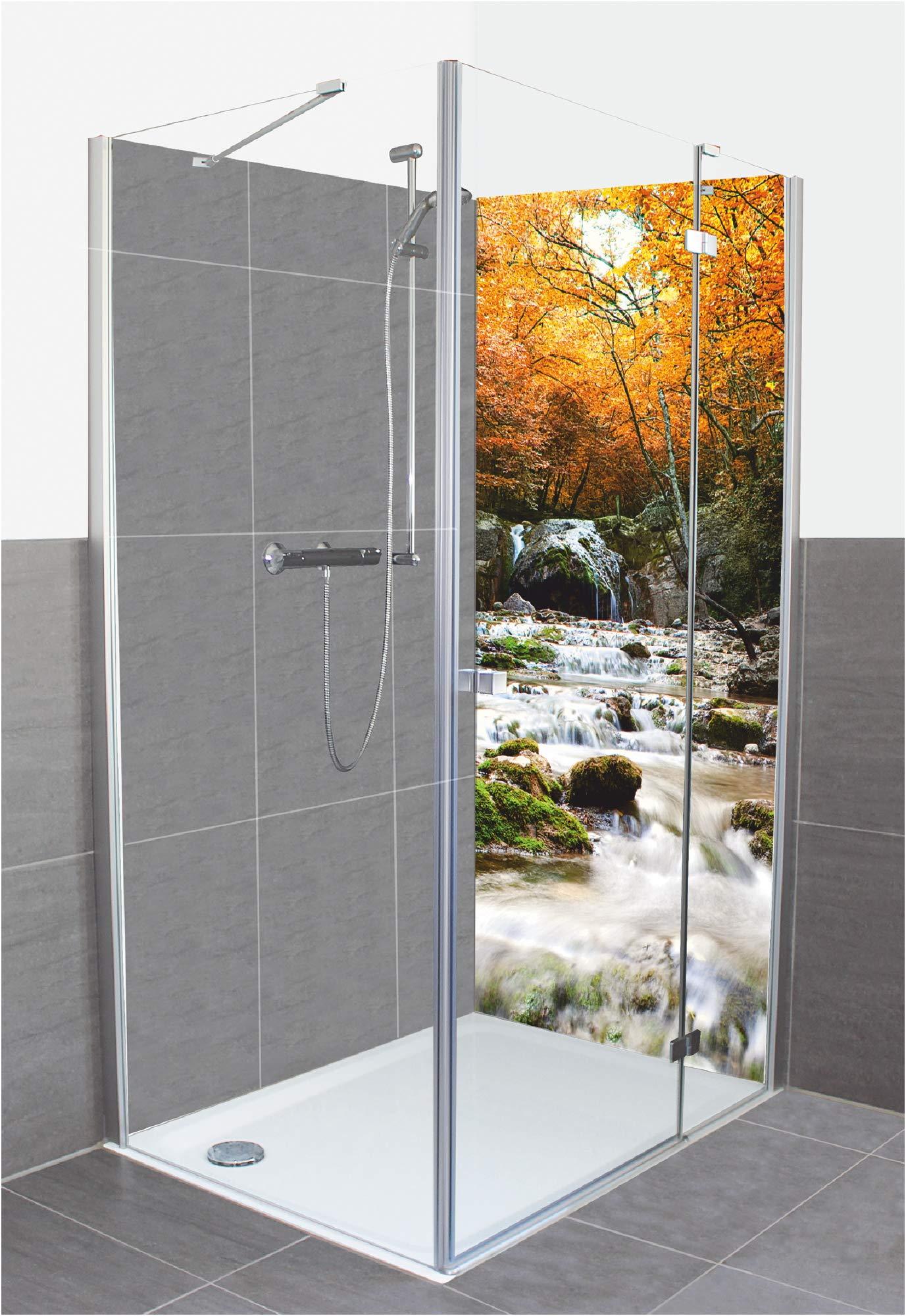 Artland A6LH - Revestimiento de pared para ducha o baño, de aluminio, diseño de cascada otoñal: Amazon.es: Juguetes y juegos